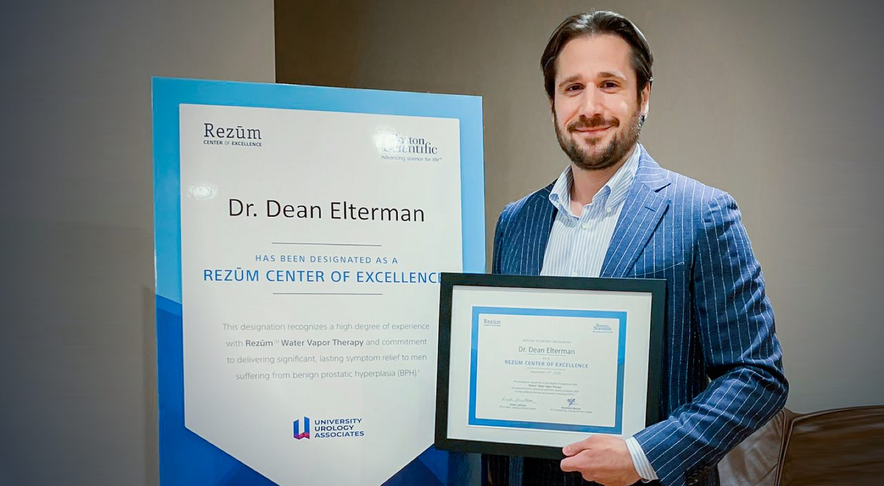 University Urology Associates Designated as a Center of Excellence for Rezūm™ Water Vapor Therapy